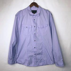 MARC ECKO Cut & Sew Orchid Shirt in XL